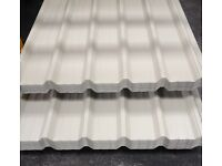 roofing sheets, box profile 3m x 1m cover .7mm light grey heavy duty ONLY WHILE STOCKS LAST