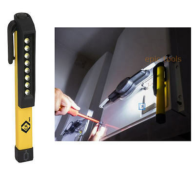 CK 8 LED Inspection Magnetic Rotating Clip 120 Lumen Pen Pocket Hand Torch,T9410