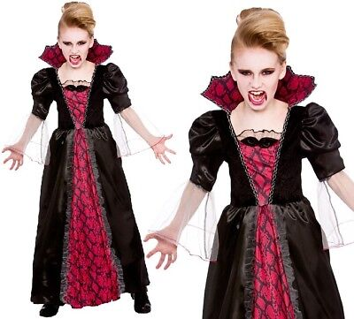 Kinder Halloween Kostüm Viktorianisch Vampirin Mädchen Kostüm Vampir Outfit - Viktorianische Vampirin Kostüm Kind