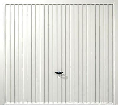 Novoferm Thornby White Steel Up and Over Garage Door, 7' X 6'6, + FREE Frame!