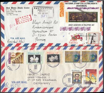 (G4161) PHILIPPINES - 6 OLDER COMMERCIAL COVERS