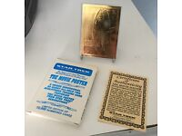 RARE 23K GOLD PLATE STAR TREK TRADING CARDS