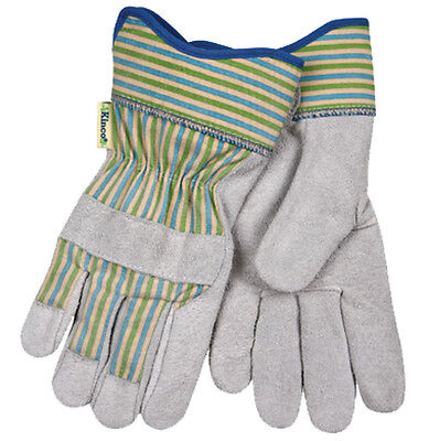 New Size Small - Womens Cowhide Leather Palm Unlined Garden Chore Work Gloves