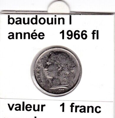 BF 3 )pieces de 1 francs  baudoui 1   1966  belgie  voir descrition