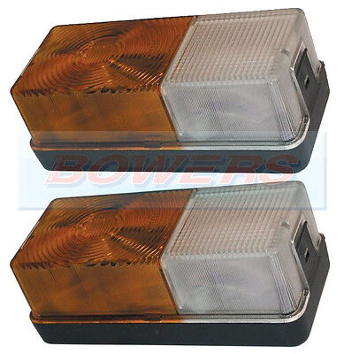 2x FORD TRACTOR FRONT SIDE / INDICATOR COMBINATION LIGHTS LAMPS 4600 NEW HOLLAND