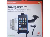 Griffin Windowseat in Car Mount for iPod, iphone, MP3 Players with Aux Cable