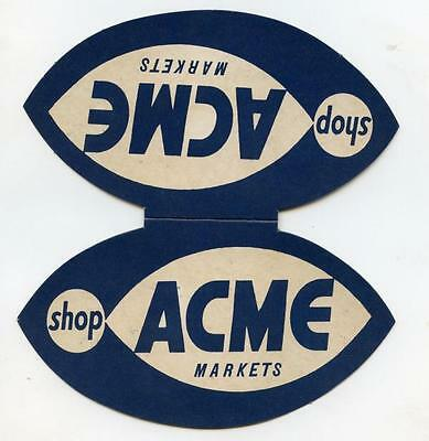 Vtg ACME Super Markets Grocery Stores Vintage Sewing Needle Packet Advertising
