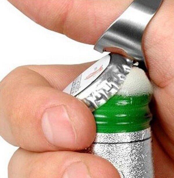Lot of 5PCS Stainless Steel Finger Ring Bottle Opener Thumb