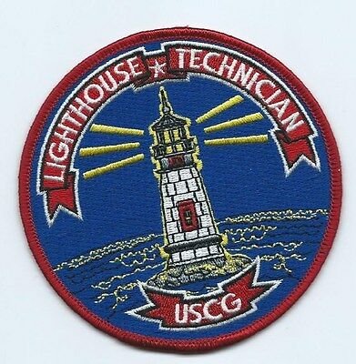 "United States Coast Guard USCG patch, ""Lighthouse Technician"" 4 in  dia"