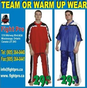 KARATE TRAINING UNIFORM, MADE OF SATIN, BUY DIRECTLY FROM MANUFACTURER & SAVE $$$ (905) 364-0440 WWW.FIGHTPRO.CA