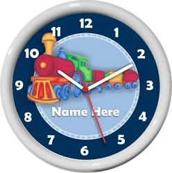 Personalized 3D Train Wall Clock Child's Room