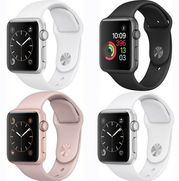 fbb449c9d71 Apple Watch Series 1   2   3 Smartwatch with sport band 38mm 42mm  grey gold rose