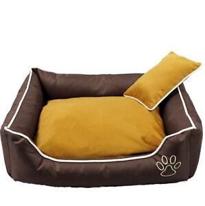 Cuccia con cuscino divano per cani cesta gatti letto lettino marrone - Cuscino per divano ...