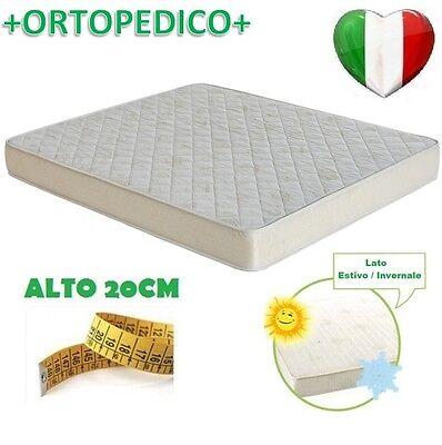MATERASSO ORTOPEDICO A MOLLE LATO ESTATE/INVERNO MADE IN ITALY