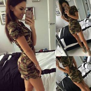 Sexy Camouflage Mini Dress