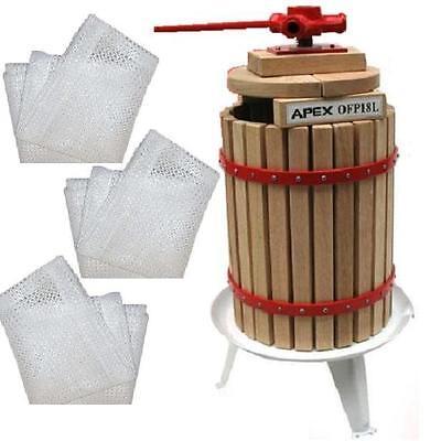 55322 Obstpresse Maischepresse 18 Ltr + 3x Pressnetz Weinpresse Apfelpresse Saft