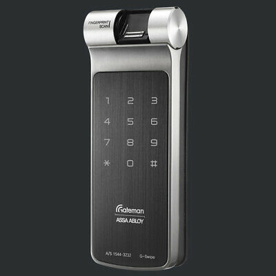 [Express] Gateman G-Swipe Fingerprint Vertibolt Rim Lock English Voice Interface