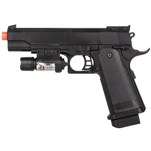 FULL SIZE M1911 SPRING AIRSOFT PISTOL HAND GUN w/ LASER SIGHT 6mm BBs BB
