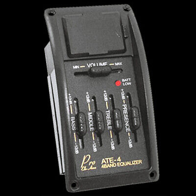 ARTEC ATE-4 Acoustic Guitar 4 Band Equalizer EQ Preamp & PP-607 Piezo Pickup