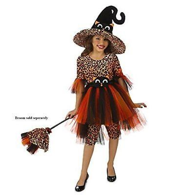 NEW IN PACKAGE Children's Orange Cora the Kitty Witch Costume- Size Medium (8) (Orange Witch Costume)