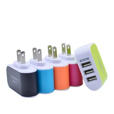 3.1A Triple USB Port Wall Home Travel AC Charger Adapter For S6 US Plug