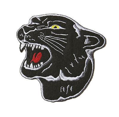 Panther Aufnäher Ju-Sports NEU Leopard Patch Kopf Badge zum Aufnähen