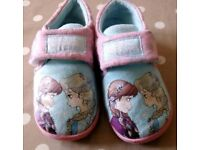 Pair of frozen slippers size 9 from mini me at boots
