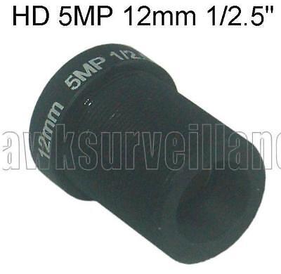 12 Mm Fixed Iris (HD 5MP 12mm 23 Degrees Monofocal Fixed Iris type  Lens, Used for CCTV Camera )
