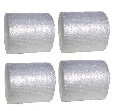 4- Rolls Of 12 Inch Wide Bubble Cushioning Wrap 316 Small Bubbles 300 Ft