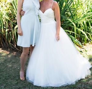 Mori Lee wedding dress + veil