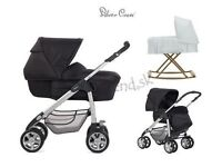 Silvercross linear sleepover pram / buggy/ car seat / rocking Moses basket all in one