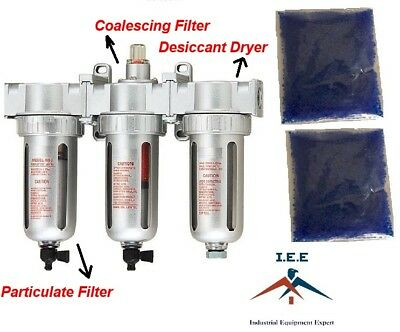 12 Compressed Air Inline Filterdesiccant Dryer 3 Stage Good For Plasma Cutter