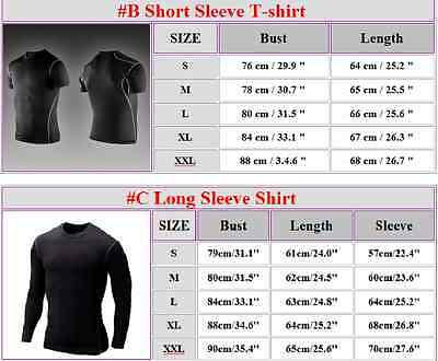 Men Gym Sports Compression Base Layer Athletic Tights T-Shirt Sweat Shorts Pants Activewear