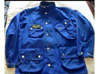 Barbour men's waxed jacket bright blue - size medium (rrp £249)