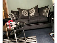 Two x three seater sofas swap or sale.