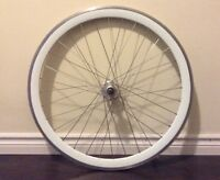 700c Front Wheel - Deep V White Wall - 30mm - Roue fixie