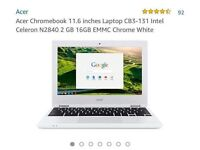 "Brand New! Acer Chromebook 11.6"" Laptop, VERY NICE"