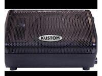 """2 x Kustom 10"""" powered 50 watt stage monitors. Bargain"""
