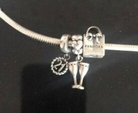 Pandora bracelet 3 charms