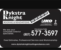 Dykstra Knight Roofing is HIRING!!!!