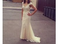 Evening prom bridesmaid vintage style lace dress