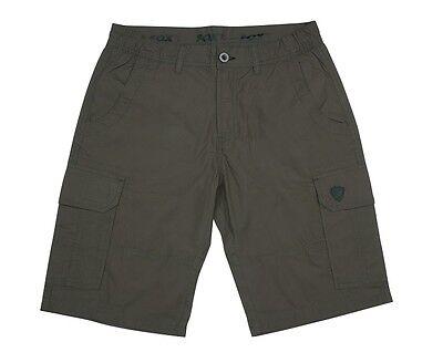 Fox Carp Fishing Clothing Range - Lightweight Green Cargo Shorts - All Sizes