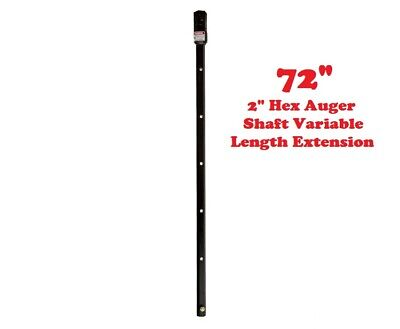 72 2 Hex Variable Length Auger Drive Extensionmcmillen Fits All Brands Usa