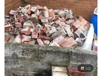 Solid red brick rubble