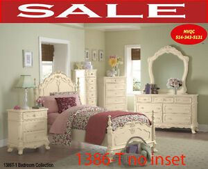 Traditional bedroom sets, girls & boys beds, tv chests, 1386-T
