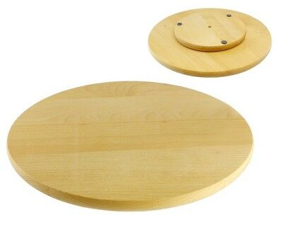 Rotating Board Lazy Susan Round Circular Wooden Swivel Serving Pizza Cake 40cm