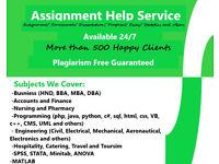 Coursework/Assignment/Dissertation/PhD/Proposal/HND/Nursing/Programming/Engineering/MATLAB/SPSS HELP