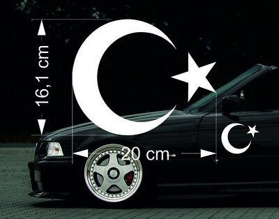 Türk Bayrak Auto Aufkleber Sticker Folie für BMW Mercedes Auto Türkiye Ayyildiz