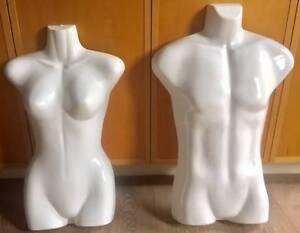Gloss Finish White Mannequin Torso 1x Male + 1x Female BARGAIN Melbourne CBD Melbourne City Preview