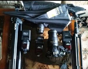 D750 Nikon dslr  50mm 1.8 ,  24-120mm lens D-750 - SB-800 SB-900